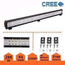 44inch 288W CREE LED Light Bar Spot Flood Work Offroad Driving ATV JEEP SUV US