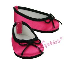 """Doll Clothes AG 18"""" Shoes Satin Pink Black  Sophia Made For American Girl Dolls"""