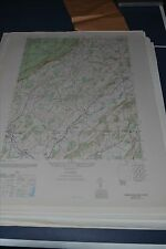 1940's Army topo map Branchville New Jersey 6066 II NW