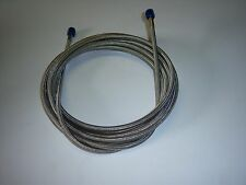 "NITROUS HOSE #4 AN 60"" STAINLESS STEEL BRAIDED BLUE ENDS"