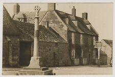 Northamptonshire postcard - Rockingham (shows War Memorial & Sondes Arms) - RP