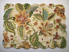 C&F AMELIA Quilted Cotton Floral Placemat