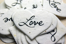 Heart Shaped Love Flower Seed Recycled Paper Wedding Memorial Favors