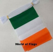 EIRE BUNTING Ireland Irish Flag 9m 30 Fabric Party Flags St Patricks Day