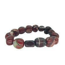 Lucky Libra Birthstone Bracelet Zodiac Astrology Gemstone Red Jasper