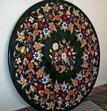 """30"""" Marble Pietre Dure Dining Table Top Mosaic Handmade Indian Mughal Arts Decor"""