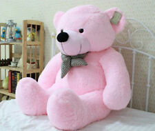 Free Shipping Toy Bow Stuffed Giant 95CM Pink Plush Teddy Bear 100% Cotton Doll