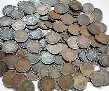 British Indian 1/12.anna coins George.V & VI - 100.coins lot - Good Condition