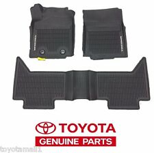2016 TACOMA FLOOR MAT LINERS RUBBER DBL CAB AUTO TRAN FACTORY TOYOTA OEM 3PC NEW