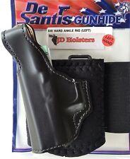 DeSantis Die Hard Ankle Holster Glock 26, 27, 33 Black Leather Left Hand