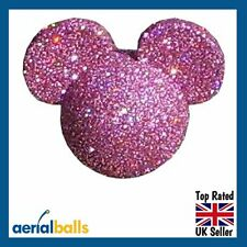 Pink Glitter Disney Mickey Mouse Minnie Mouse Car Aerial Ball Antenna Topper