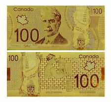 100 CANADA DOLLARS 1988 P-99 BANKNOTE GOLD 24K