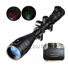 6-24X50mm AOEG Rifle Scopes Hunting Crosshair Red Green Illuminated Hunting