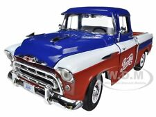 "1957 CHEVROLET CAMEO PICKUP TRUCK ""PEPSI COLA"" 1/18 MODEL CAR BY AUTOWORLD AW207"