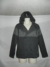 MODERN AMUSEMENT MENS GRAY HOODIE PEACOAT JACKET SMALL NWT $89.50