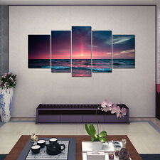 HD Canvas Prints Home Decor Wall Art Painting Picture-Aurora Sea Sunset Unframed