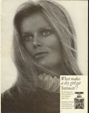 1969 Vintage ad for IIntimate/perfume  Intimate Revlon/Pretty Blonde (050413)