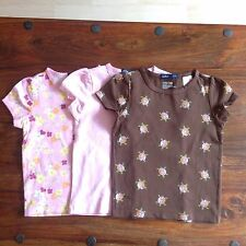 3 GAP girl's short sleeves cotton mix jersey t-shirts, size 4 years