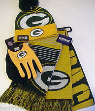 "NFL ""PACKERS"" Cap / Scarf / Gloves   NEW ERA AUTHENTIC! LICENSED!   (WHIZ S/L)"