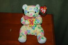 BLOOM the BEAR  - Ty Beanie Baby  -  Spring Time Bear - Retired  - MWMT