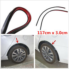 2pc Full Size 117cm Car Fender Flare Wheel Eyebrow Protector Lip Wheel-arch Trim