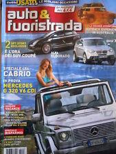 Auto & Fuoristrada n°7-8 2008 Merceds G320 V6 CDI BMW X4 [P39]