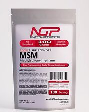 MSM Powder 100g (3.5oz) -METHYLSULFONYLMETHANE Pain Relief -Joint Arthritis -NGP