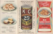 Favorite Recipes from the KC Baking Powder Cook Book Tri-fold Brochure