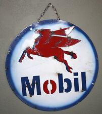 Metal MOBIL Gasoline PEGASUS Sign Gas Oil Garage Man Cave Home Decor Recycled