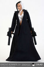 TRIAD-1/6 -KNIGHT RUNNER TRENCHCOAT - BLACK - FEMALE OUTFIT - **CLOTHING ONLY**
