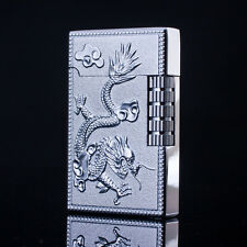 Silver Dragon Phoenix Cigar Butane Gas Refillable Lighter Cigarette Lighter