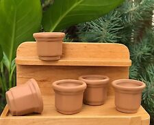 Miniature Dollhouse FAIRY GARDEN Accessories ~ Set of 5 Mini Octagonal Pots NEW