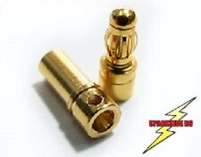 3.5mm Gold Bullet Connectors 5 Pair - Inc heatshrink - UK Seller - Fast Dispatch