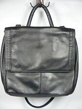 Black Marissima Soft Messenger Bag Briefcase Document Shoulder Faux Leather Lned