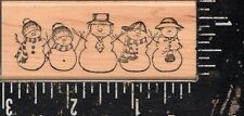 Delafield Wood Mounted Stamp Snowman Border NEW!!