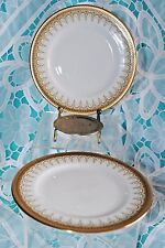 VTG PARAGON ROYAL ALBERT ATHENA LOT 2 DESSERT CAKE PLATES DESIGN DETAIL GOLD