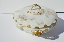 ANTIQUE GORGEOUS CH FIELD HAVILAND LIMOGES TORONTO WINNIPEG SOUP TUREEN PINK