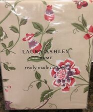 "Laura Ashley Summer Palace Curtains in Cranberry 64"" W x 72"" L (162 x 183cm) NEW"