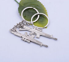 1pcs Gun Pendant Key ring chain Cross Fire Gun Weapon Model Metal 17X70mm #A6007