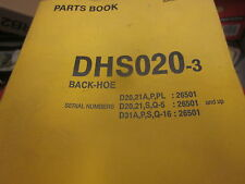 Komatsu DHS020-3 Backhoe Parts Book Manual