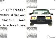 PUBLICITE ADVERTISING 015  1989  MERCEDES-BENZ  la 200 E   ( 2 pages)