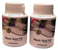 ZamZam Black Seed Oil Capsules Natural Alternative Food Supplements Pack of 2