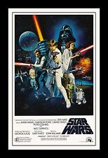 STAR WARS -  A NEW HOPE  framed movie poster 11x17 Quality Wood Frame