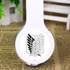 Anime Attack On Titan Stereo Earphone Headband Headphone PC MP3 Phone Microphone