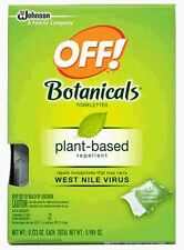 OFF! Botanicals Plant Based Repellent Mosquitoes that cary Virus 8 Towellet  2PK