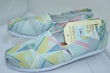 Toms Womens Shoes Classics Ballet Flats Size 7 Slippers Multi Canvas Slip On NIB