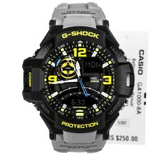 *NEW* CASIO MENS G SHOCK AVIATION GREY WATCH TWIN SENSOR GA1000-8A RRP£259