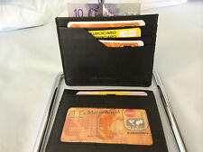 Leather Ultra Slim Credit Card Holder - Black (AEC-26)