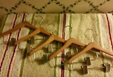 "FIVE(5)8""Clothing Hangers-Made Fit American Girl-My Twinn Sz Dolls-Wood W/Clips"