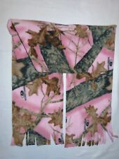 PINK MOSSY OAK BREAK UP CAMO PRINT  FLEECE SCARF - SOFT- WARM HANDMADE